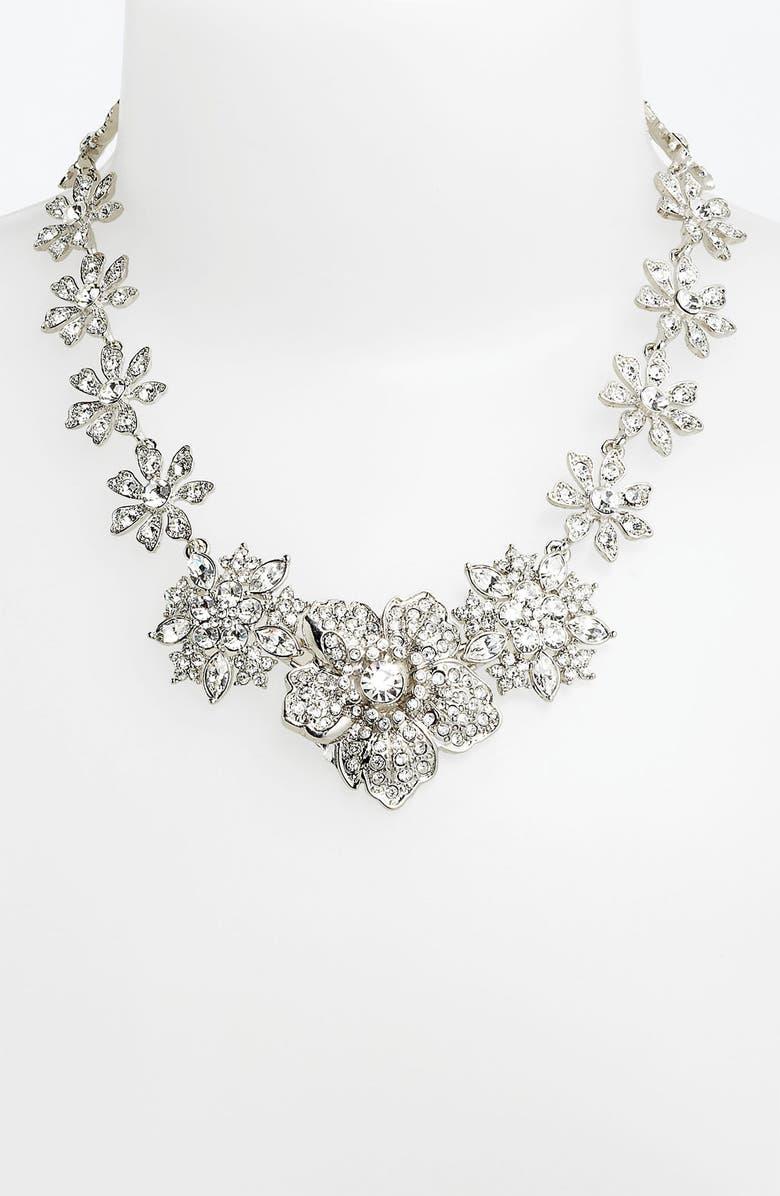 NINA Flower Bib Necklace, Main, color, 040