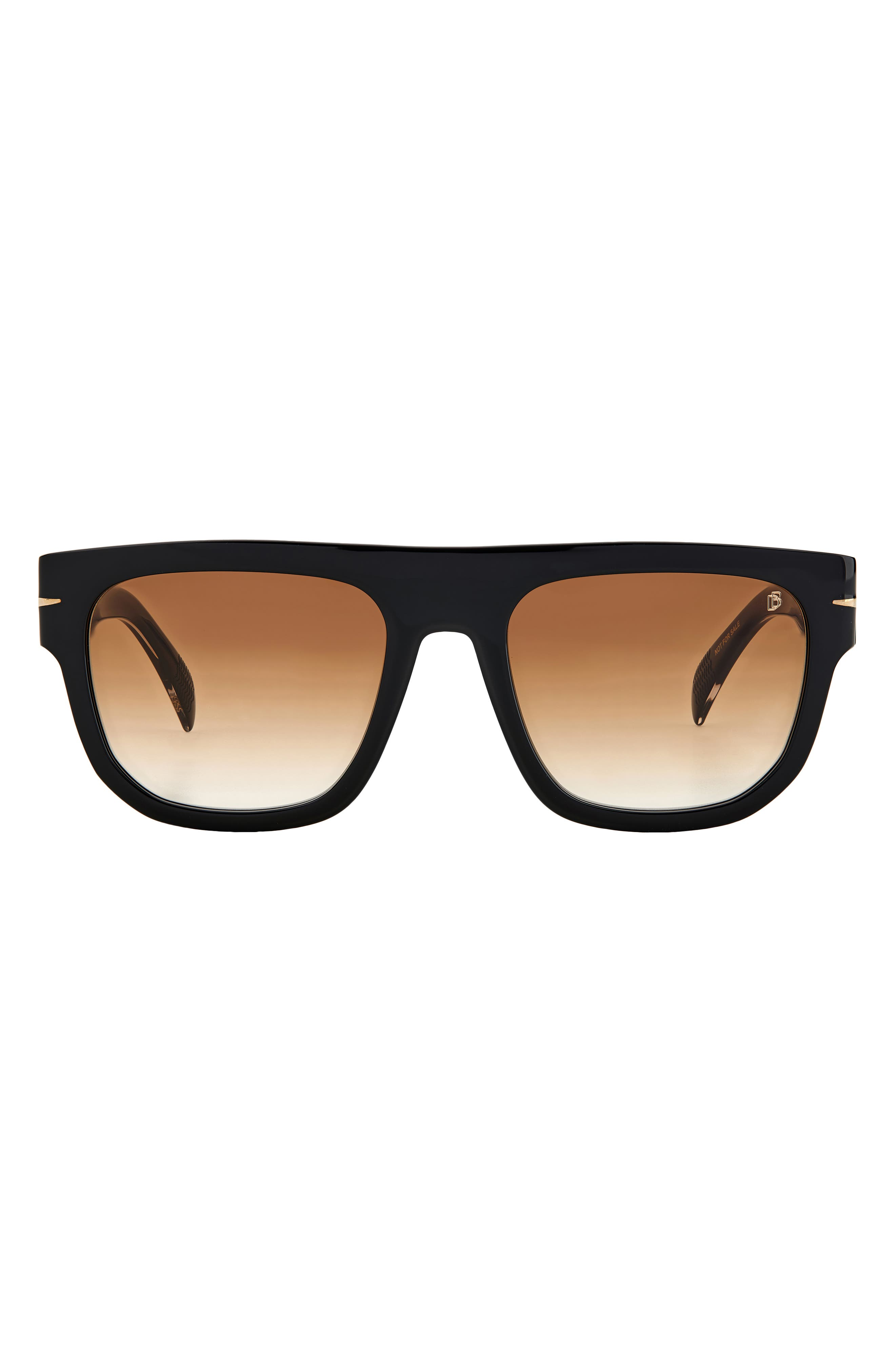 Men's David Beckham 54mm Gradient Flat Top Sunglasses