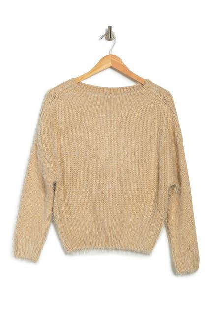 Image of Lush Long Sleeve Eyelash Knit Sweater