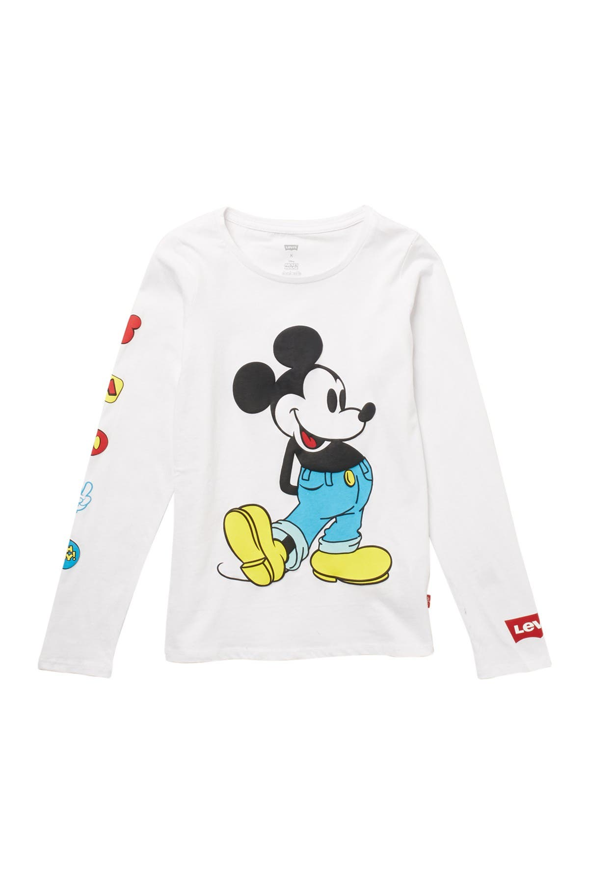 Disney/'s Official Mickey Mouse Club Long Sleeve T-shirt Size 10//12 Unisex NEW