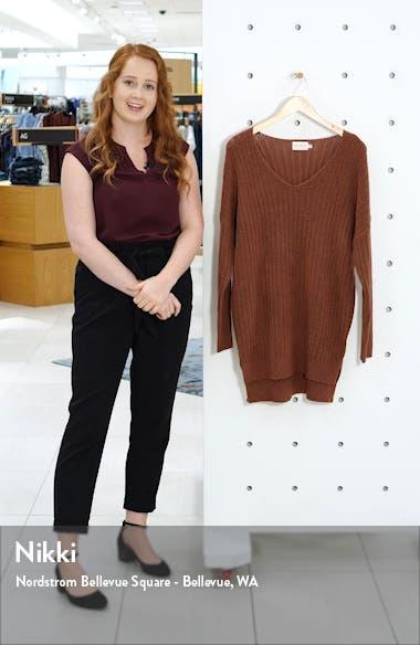 Ribbed Long Sleeve Sweater Minidress, sales video thumbnail