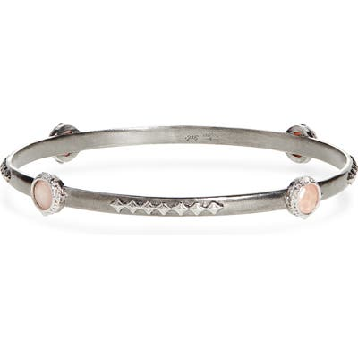 Armenta New World Bezel Set Bangle
