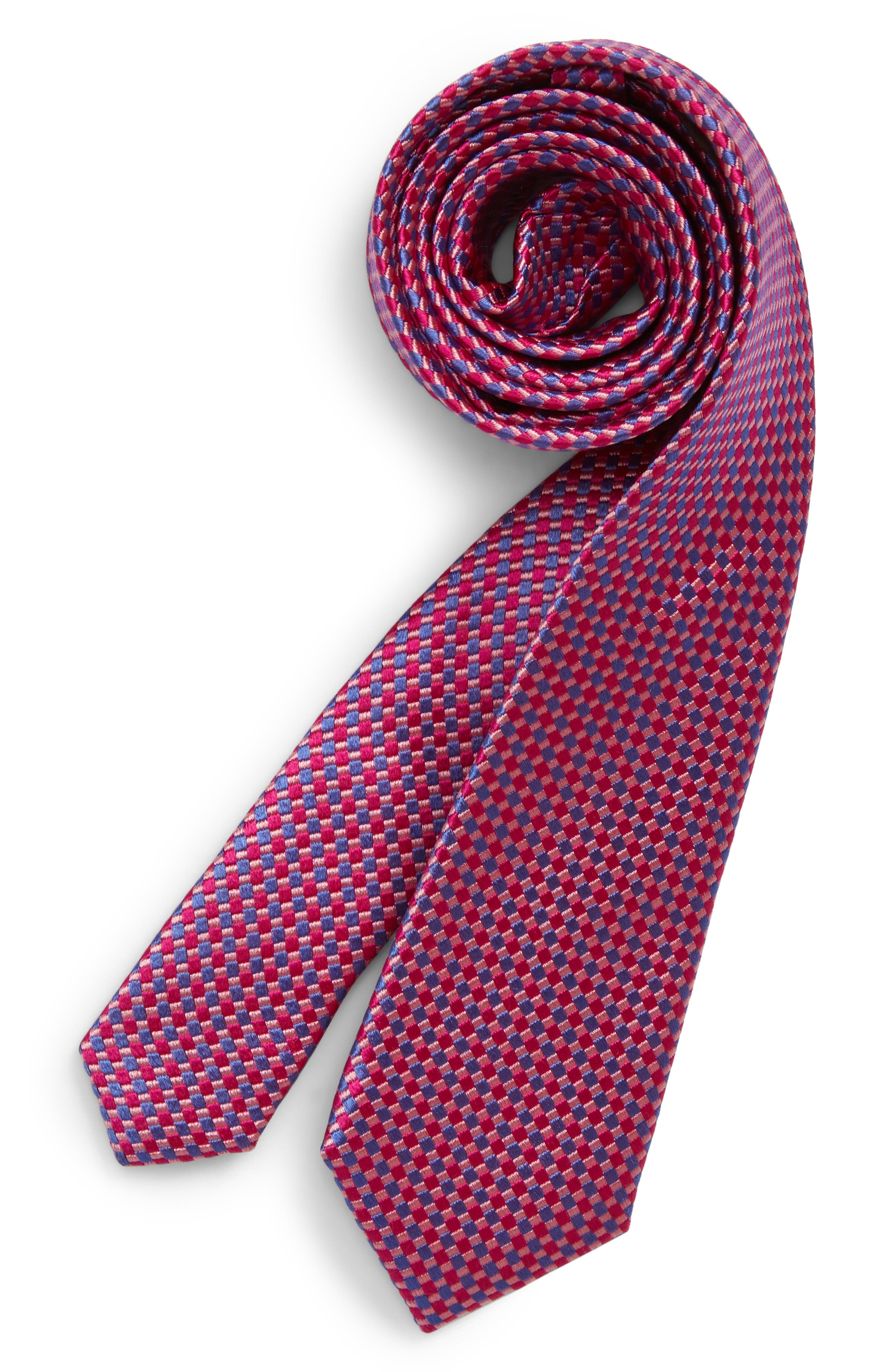 Boys Michael Kors Royal Matte Solid Silk Tie Size One Size  Pink