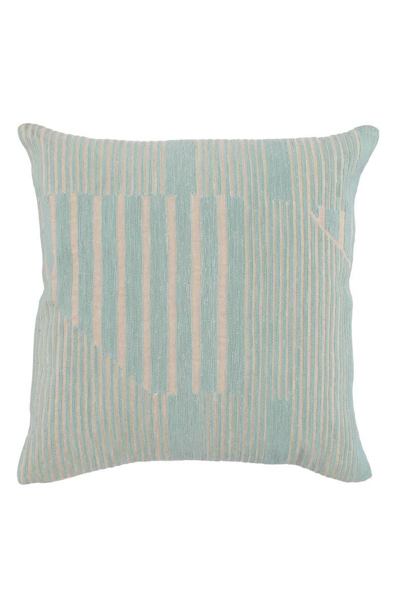 VILLA HOME COLLECTION Levi Pillow, Main, color, BLUE SURF