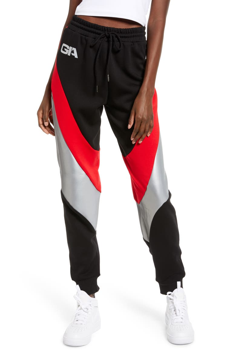 I.AM.GIA Sabrina Track Pants, Main, color, BLACK