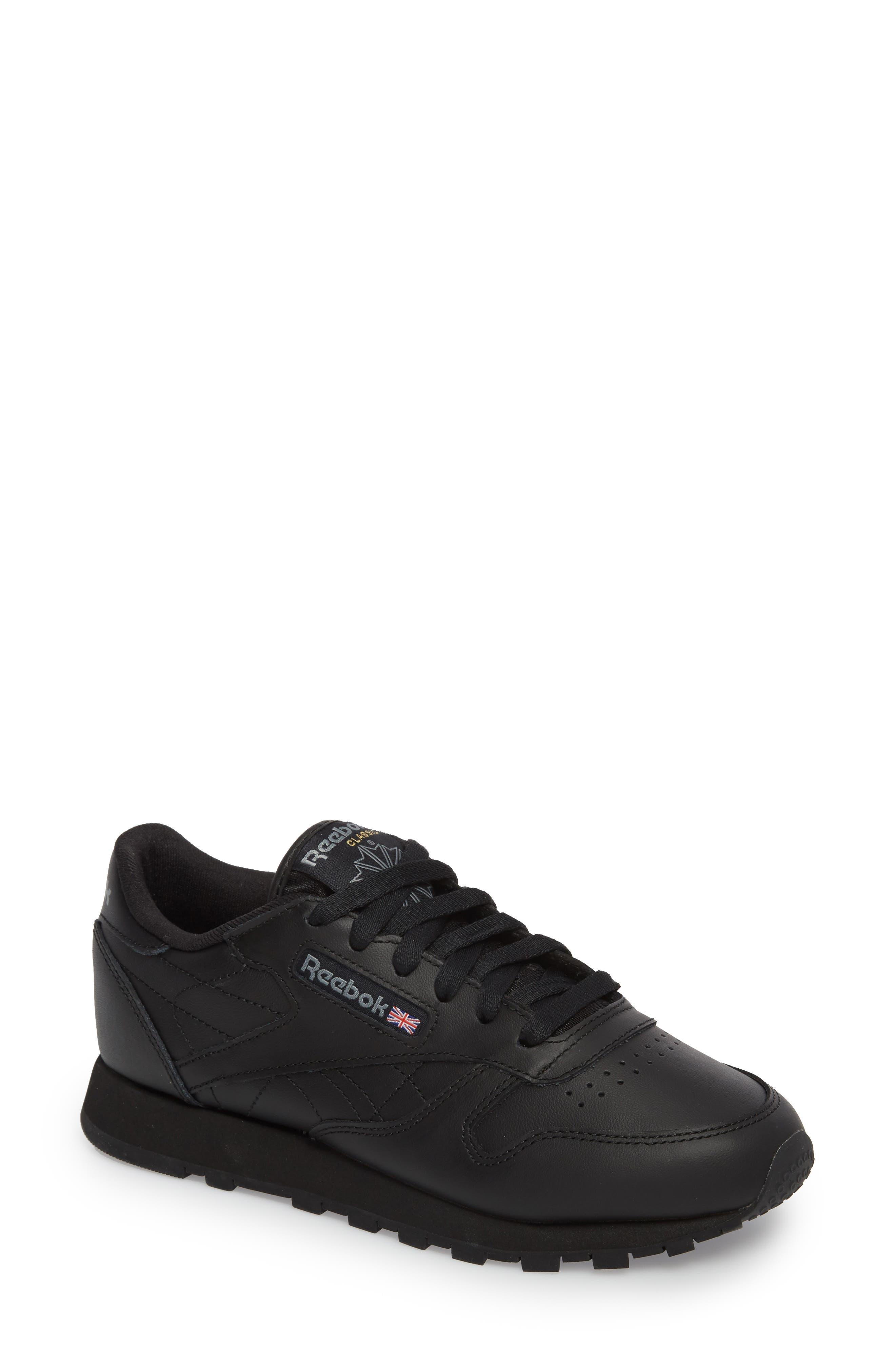 Reebok Classic Leather Sneaker, Black