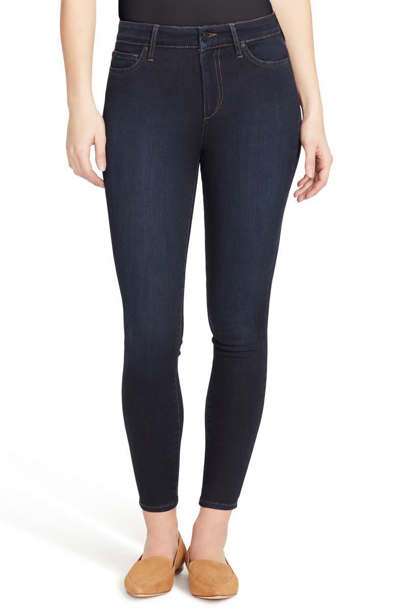 ELLA MOSS High Waist Ankle Skinny Jeans, Main, color, SIREN