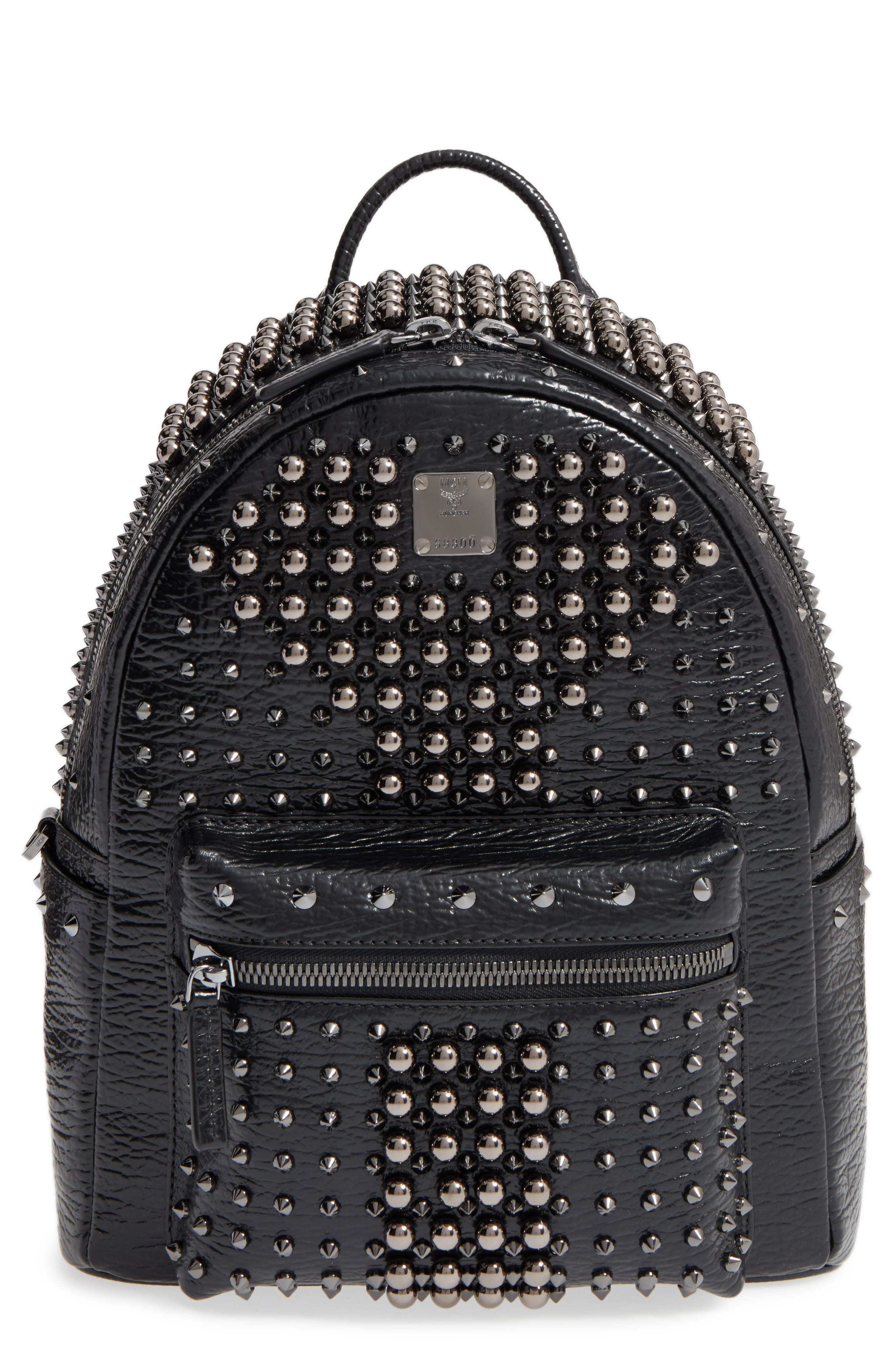 Small Stark Studs Backpack, Main, color, 001
