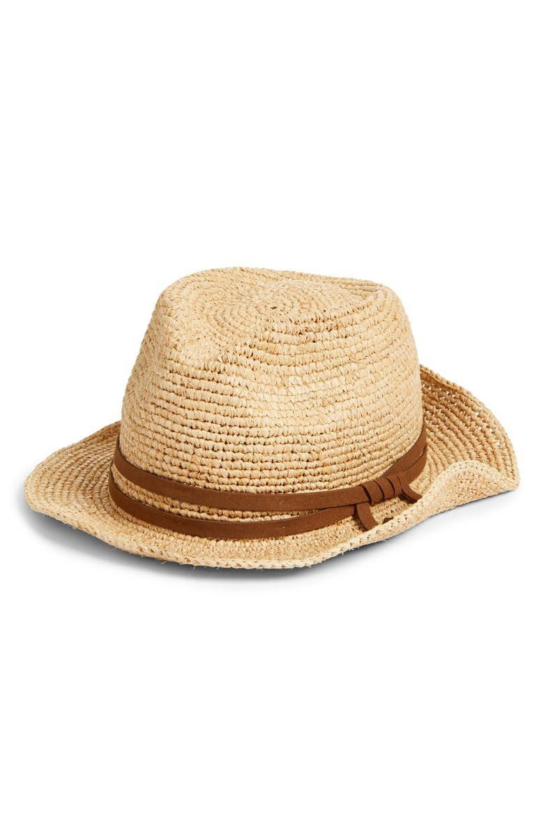 TREASURE & BOND Straw Hat, Main, color, NATURAL COMBO