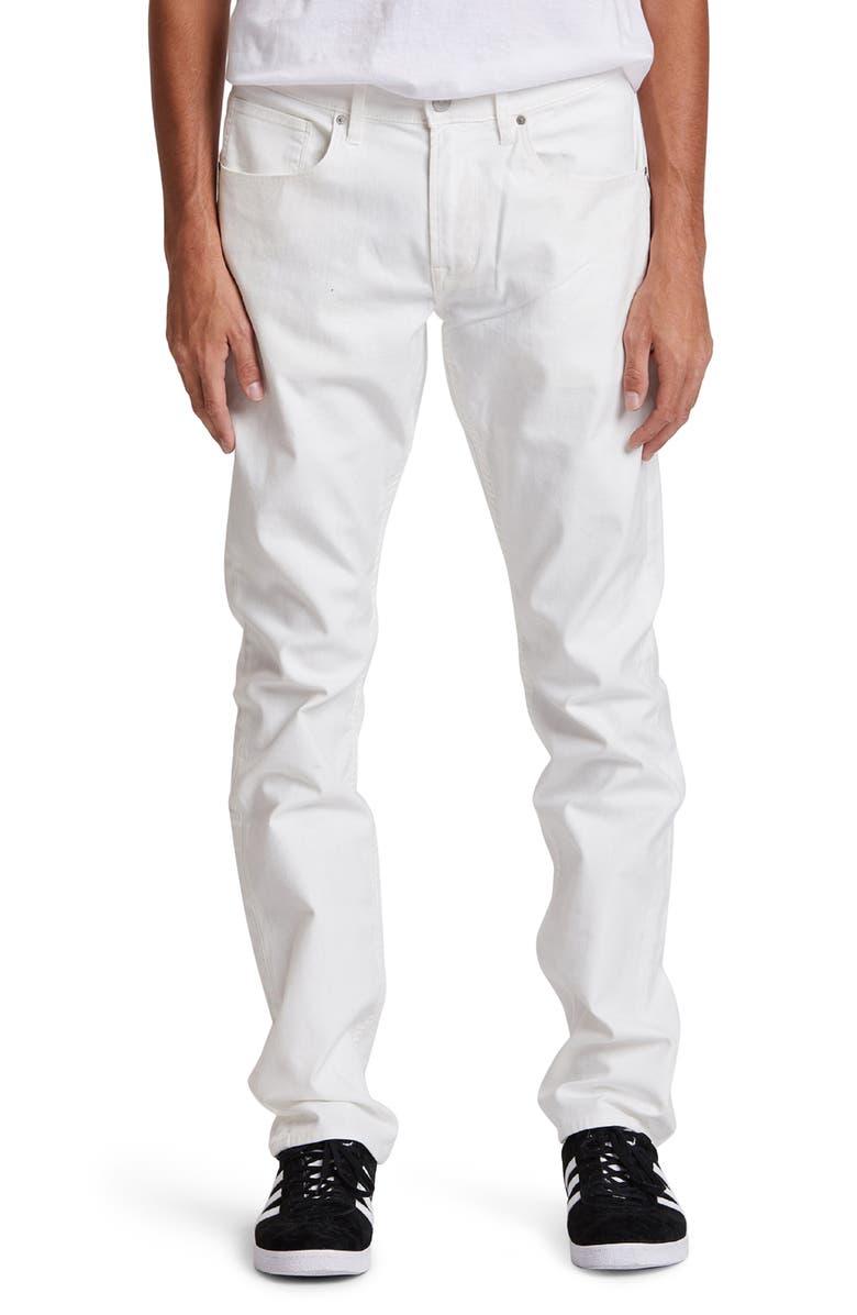 HUDSON JEANS Blake Slim Straight Leg Jeans, Main, color, IVORY