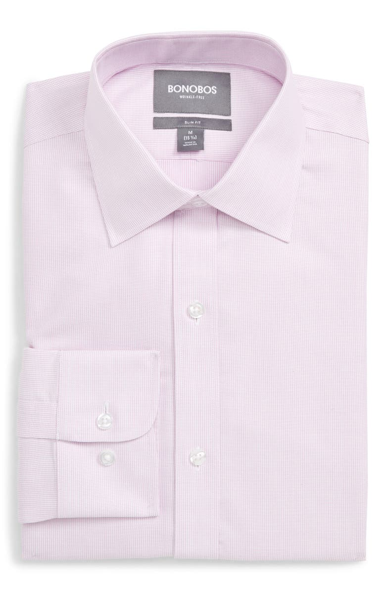 BONOBOS Slim Fit Solid Dress Shirt, Main, color, SOFT PINK
