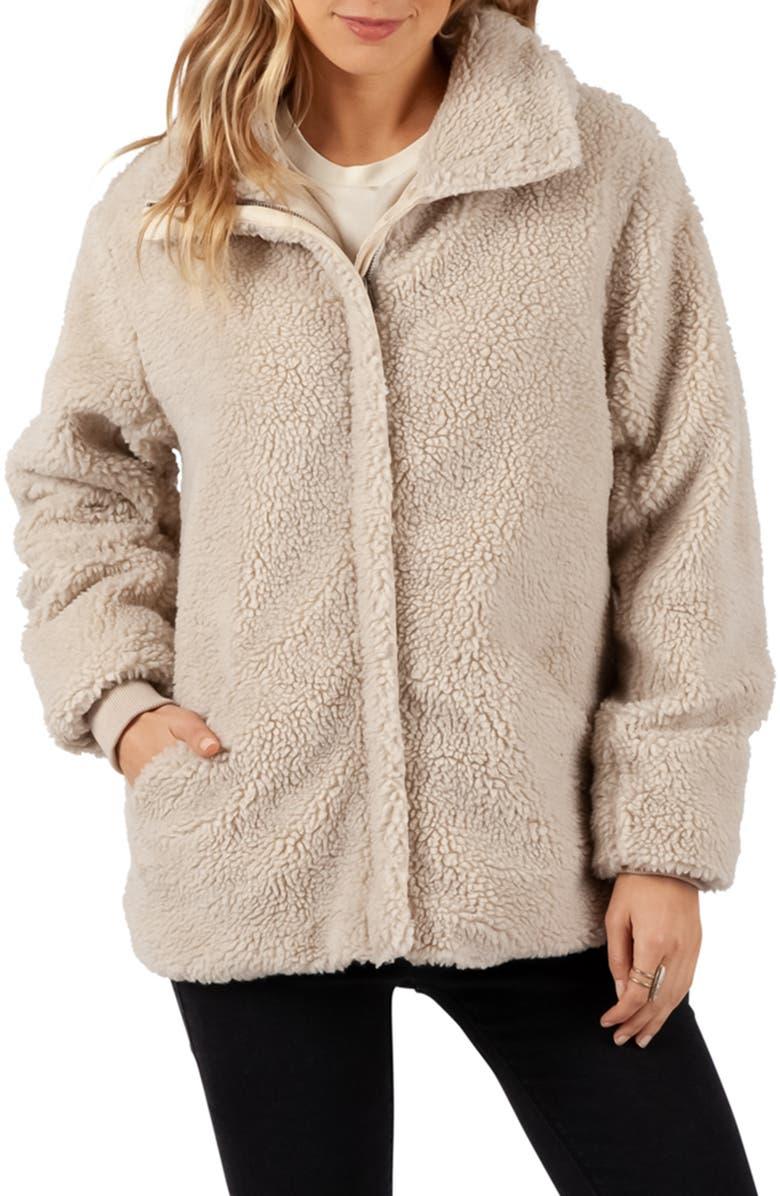 RIP CURL Lumber High Pile Fleece Jacket, Main, color, 100