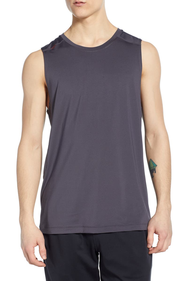 RHONE Performance Tank, Main, color, SHADOW GREY