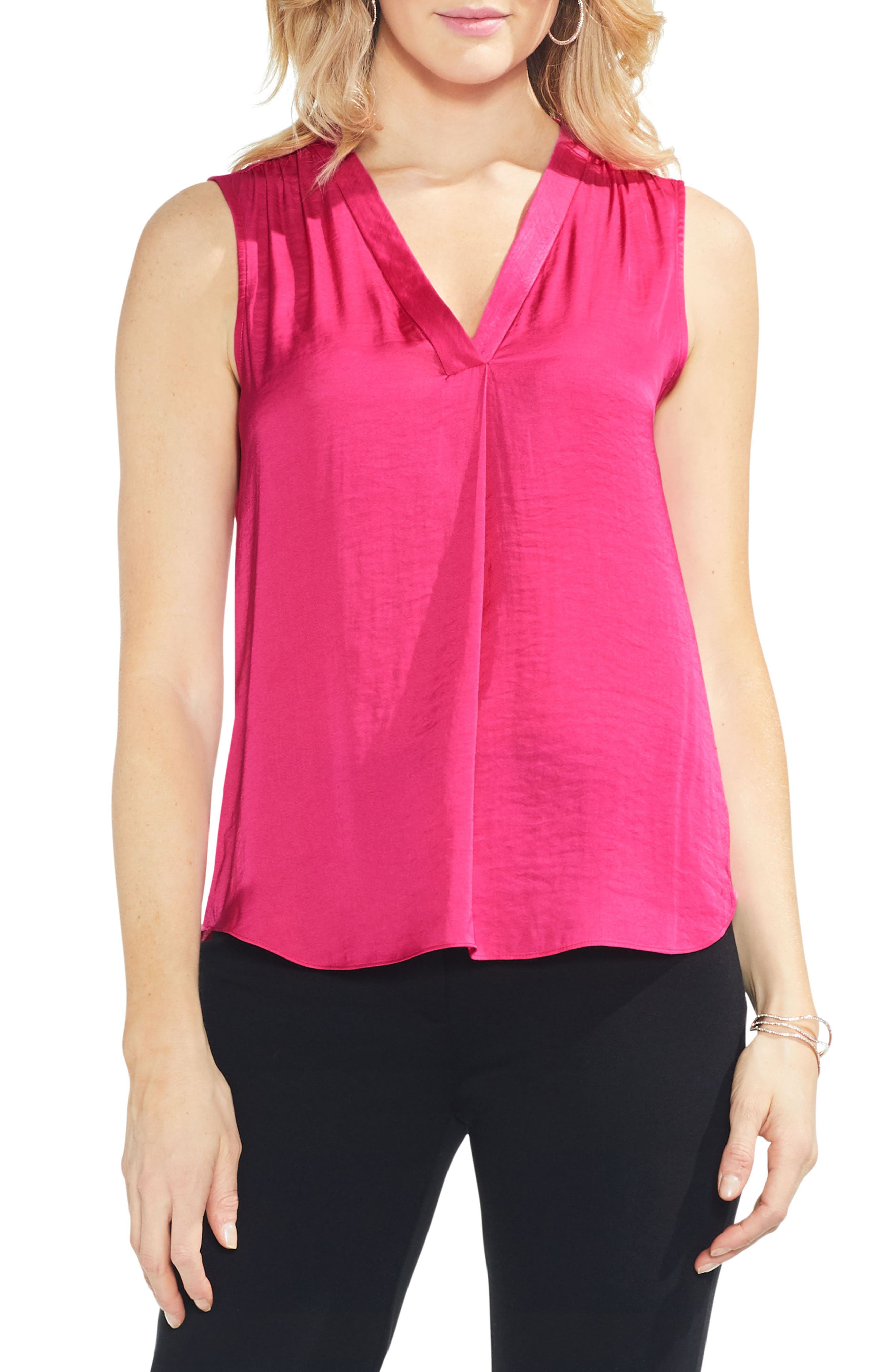 ,                             Rumpled Satin Blouse,                             Main thumbnail 114, color,                             697