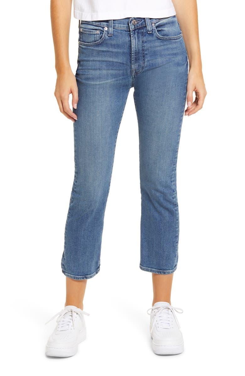 EDWIN Elin High Waist Crop Slim Jeans, Main, color, 400