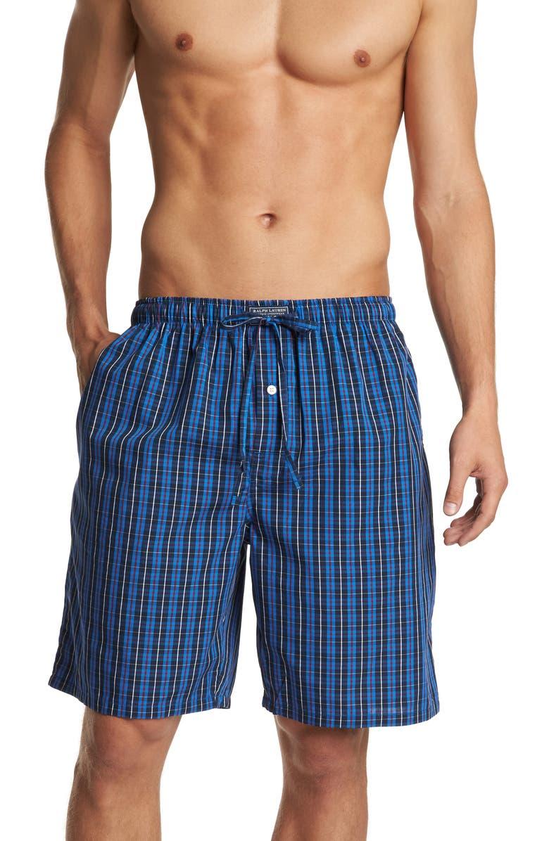 POLO RALPH LAUREN Woven Pajama Shorts, Main, color, HARWICH PLAID