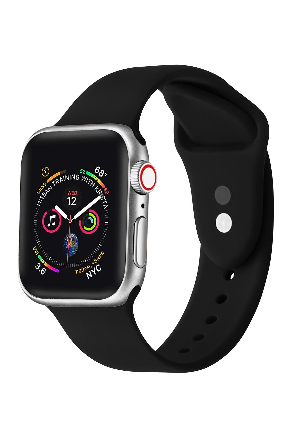 Image of POSH TECH Black Silicone 38mm Apple Watch 1/2/3/4 Band