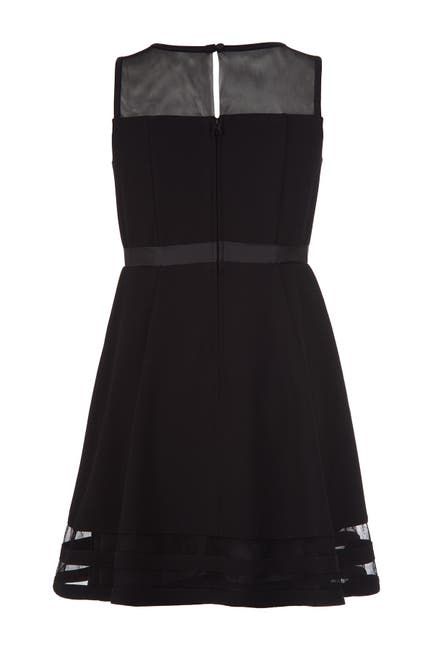 Image of Calvin Klein Illusion Mesh Dress