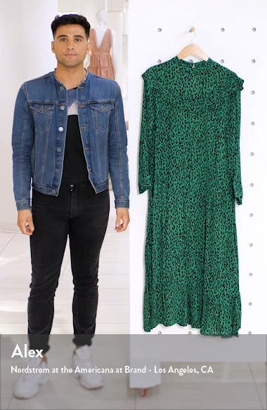 Animal Print Long Sleeve Prairie Dress, sales video thumbnail