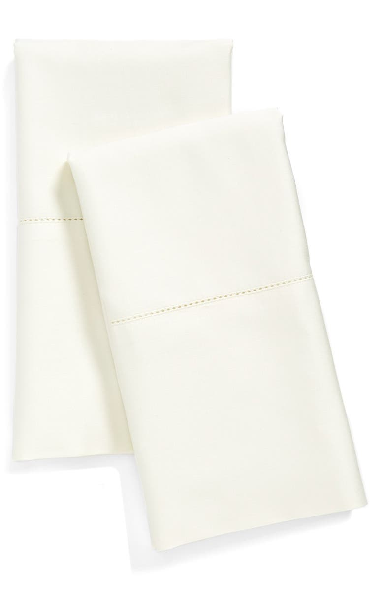 NORDSTROM 600 Thread Count Egyptian Cotton Pillowcases, Main, color, IVORY