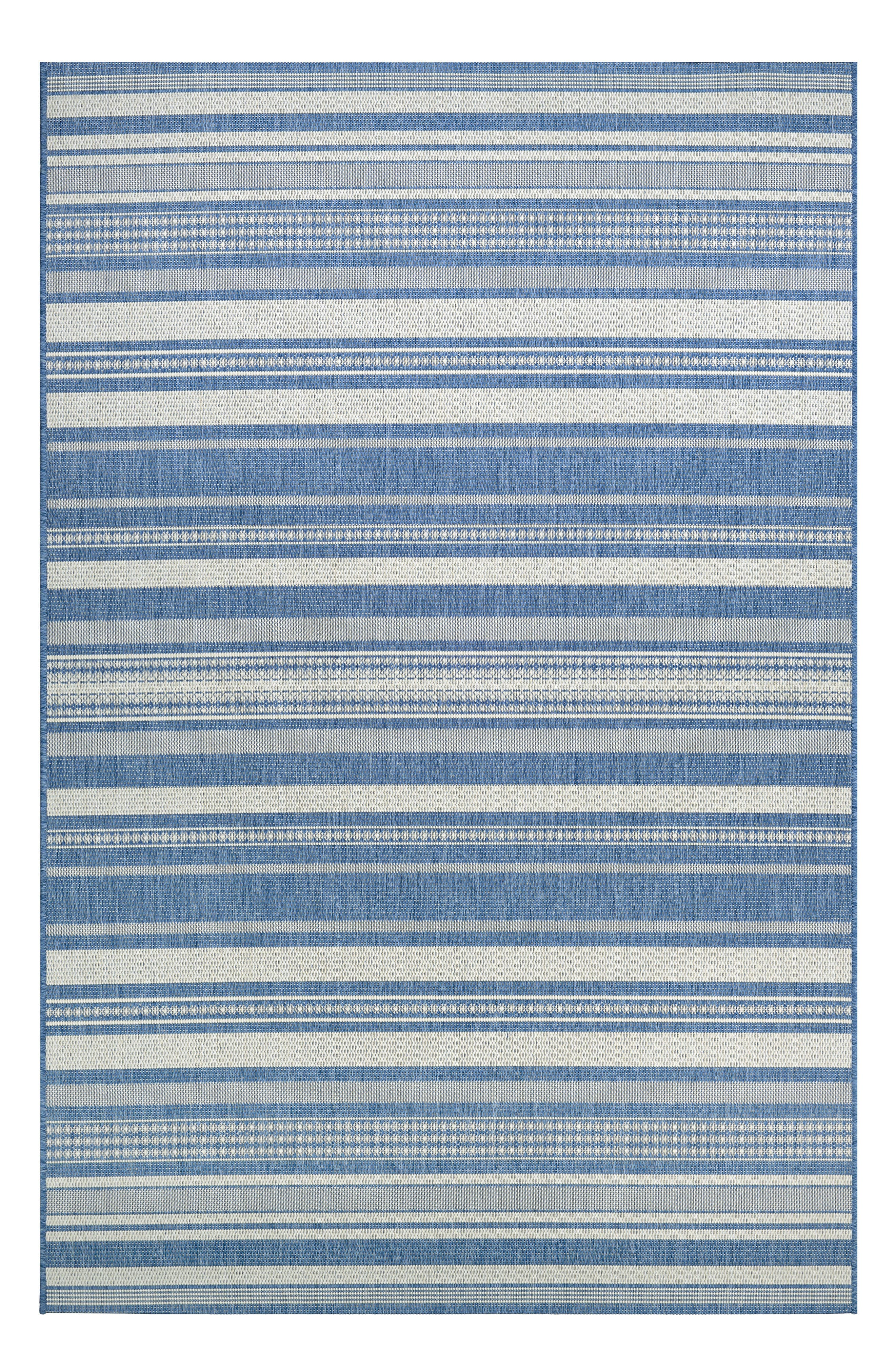 Tonal stripes define a versatile rug power-loomed in fade-resistant polypropylene, making it great for high-traffic areas both inside and outside. Style Name: Couristan Gazebo Indoor/outdoor Rug. Style Number: 5368540. Available in stores.
