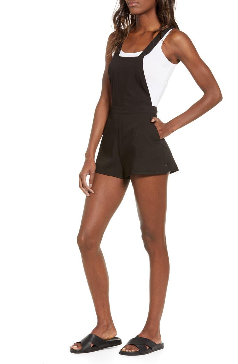 LIRA CLOTHING Fields Romper, Main, color, BLACK