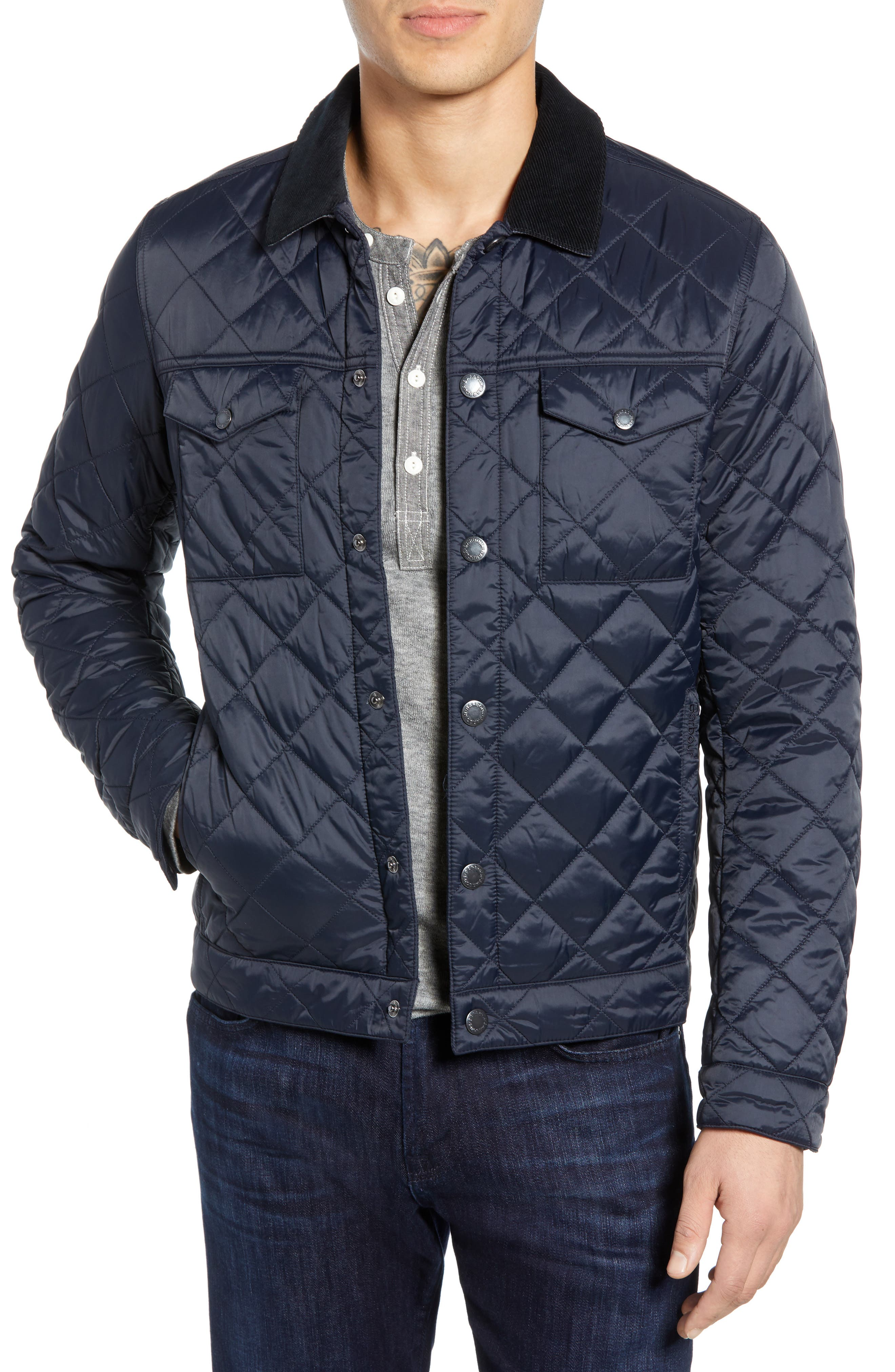 Barbour Pardarn Quilted Jacket, Blue