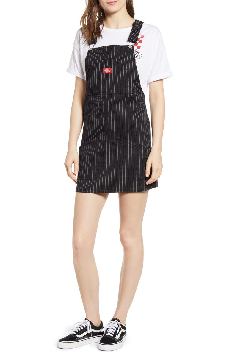 Dickies Pinstripe Overall Dress Nordstrom