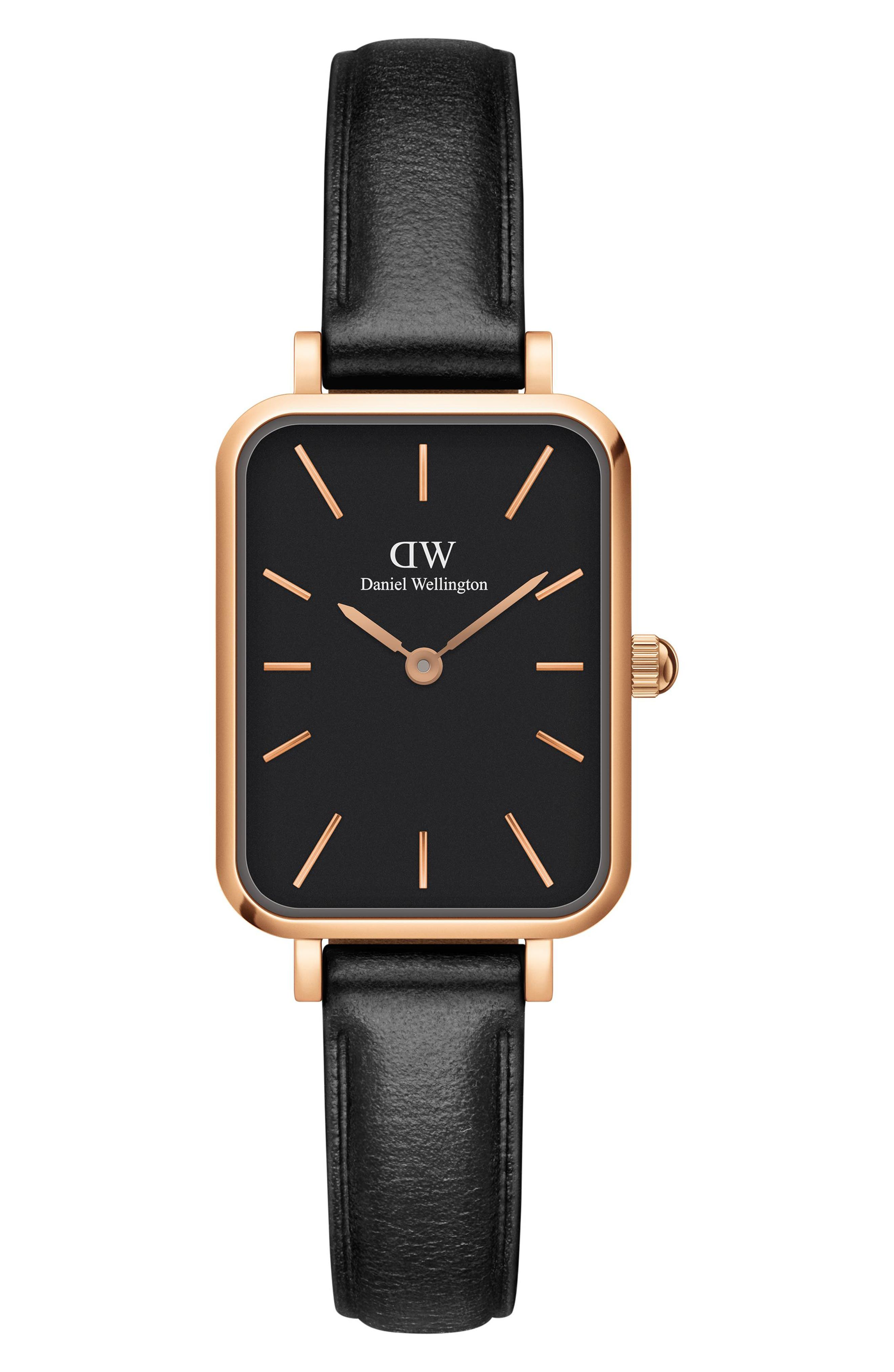Quadro Sheffield Leather Strap Watch