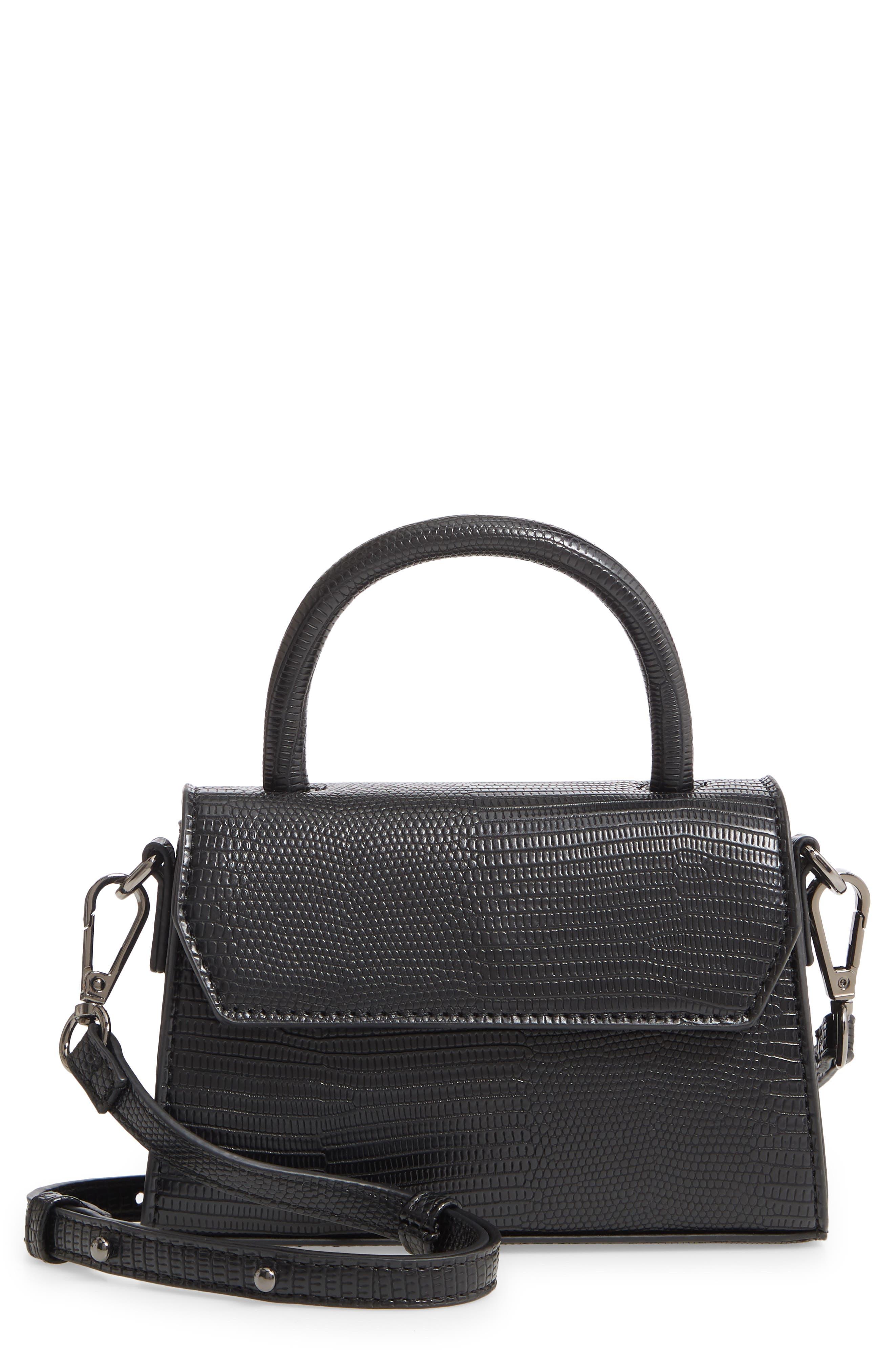 Faux Leather Mini Crossbody Bag