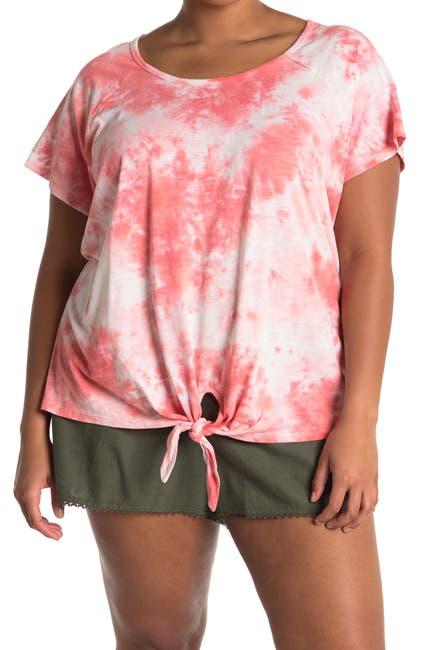 Image of Sanctuary Tie-Dye Tie Hem T-Shirt