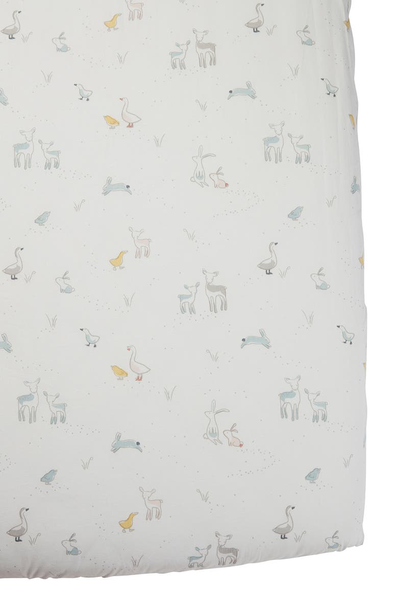 PEHR Just Hatched Organic Cotton Crib Sheet, Main, color, MULTI