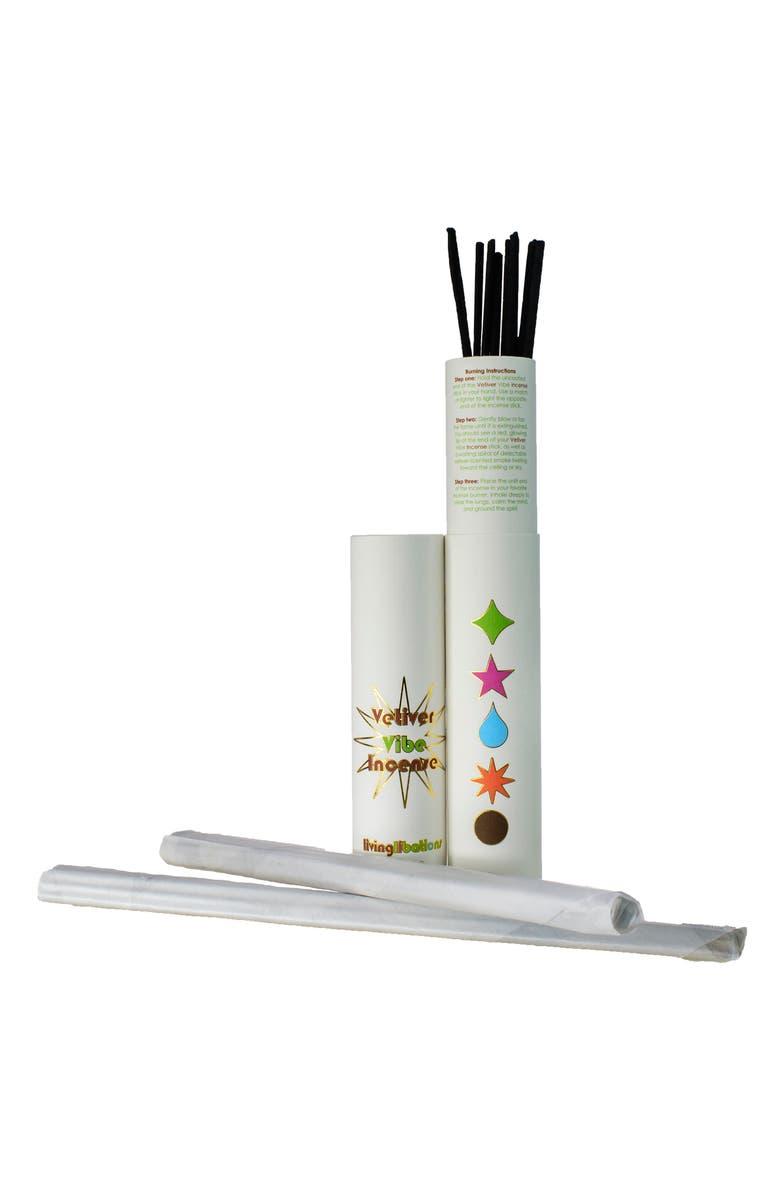 LIVING LIBATIONS Living Librations Vetiver Vibe Incense, Main, color, WHITE