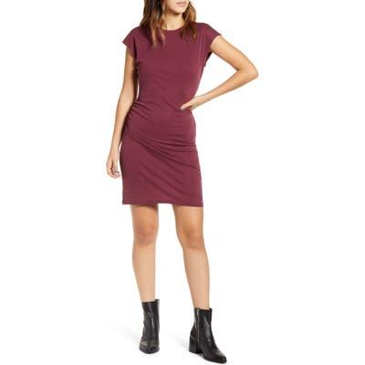 Lira Clothing Take A Walk Short Sleeve Dress, Burgundy