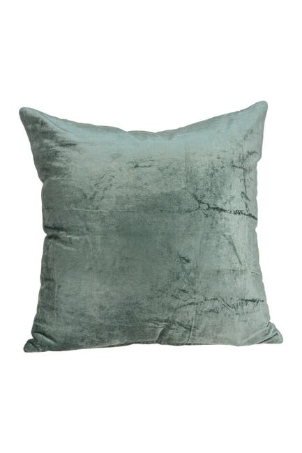"""Image of Parkland Collection Diego Transitional Solid Pillow - 22"""" x 22"""" - Sea Foam"""