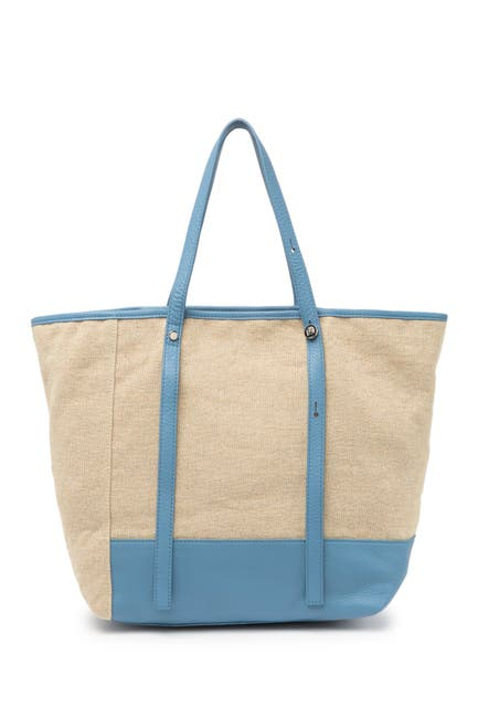 Image of Christopher Kon Canvas and Leather Tote