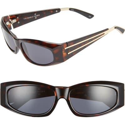 Adam Selman X Le Specs Luxe The Edge 55Mm Wrap Sport Sunglasses - Leopard/ Gold/ Smoke