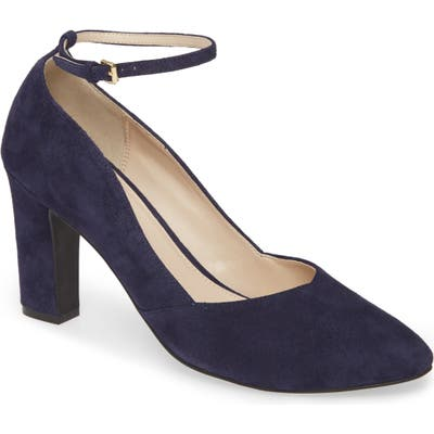 Cole Haan Kaelyn Ankle Strap Pump, Blue