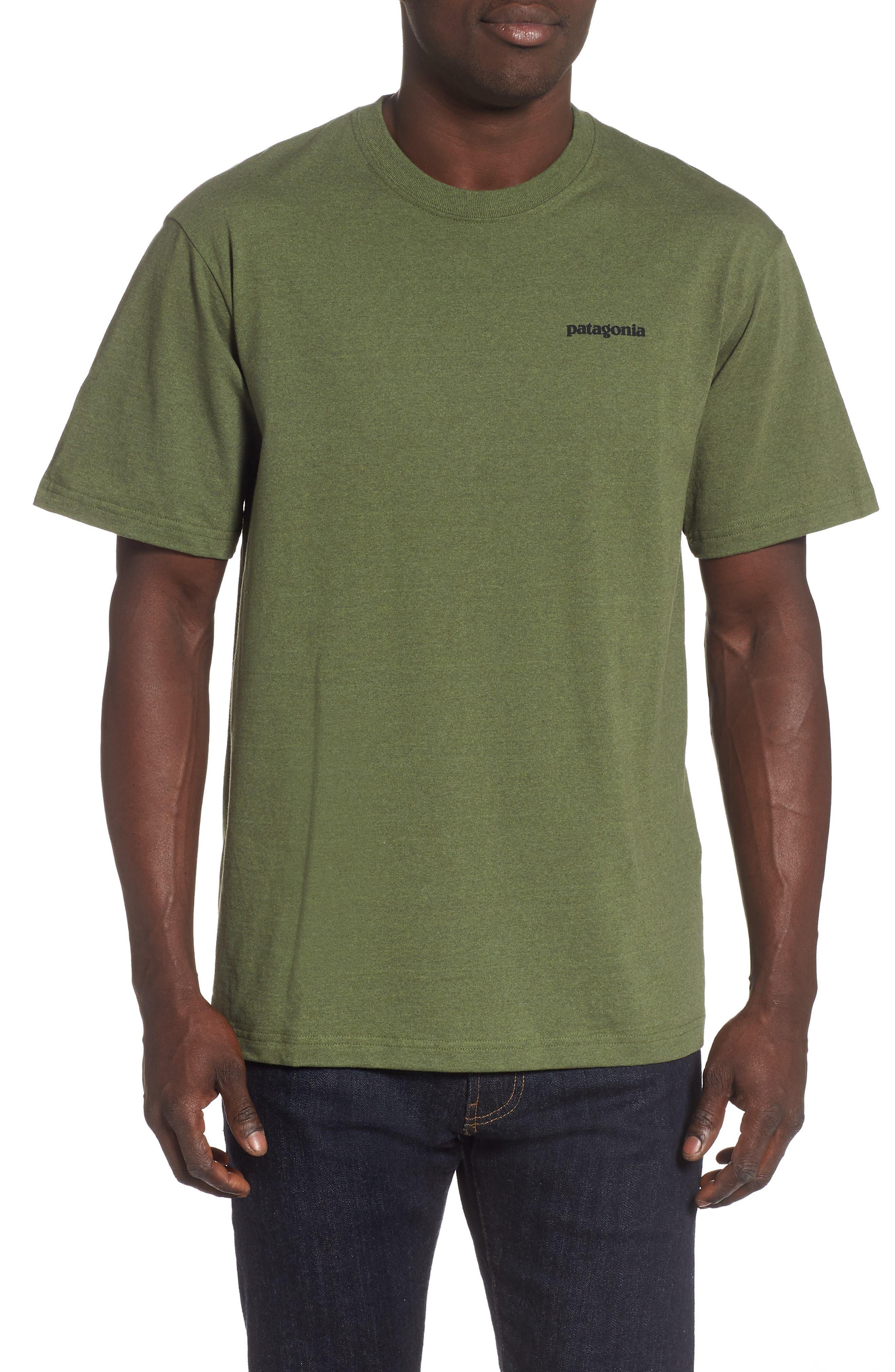 Patagonia Fitz Roy Smallmouth Responsibili-Tee Regular Fit T-Shirt, Green