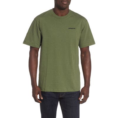 Patagonia Fitz Roy Smallmouth Responsibili-Tee Regular Fit T-Shirt, Green