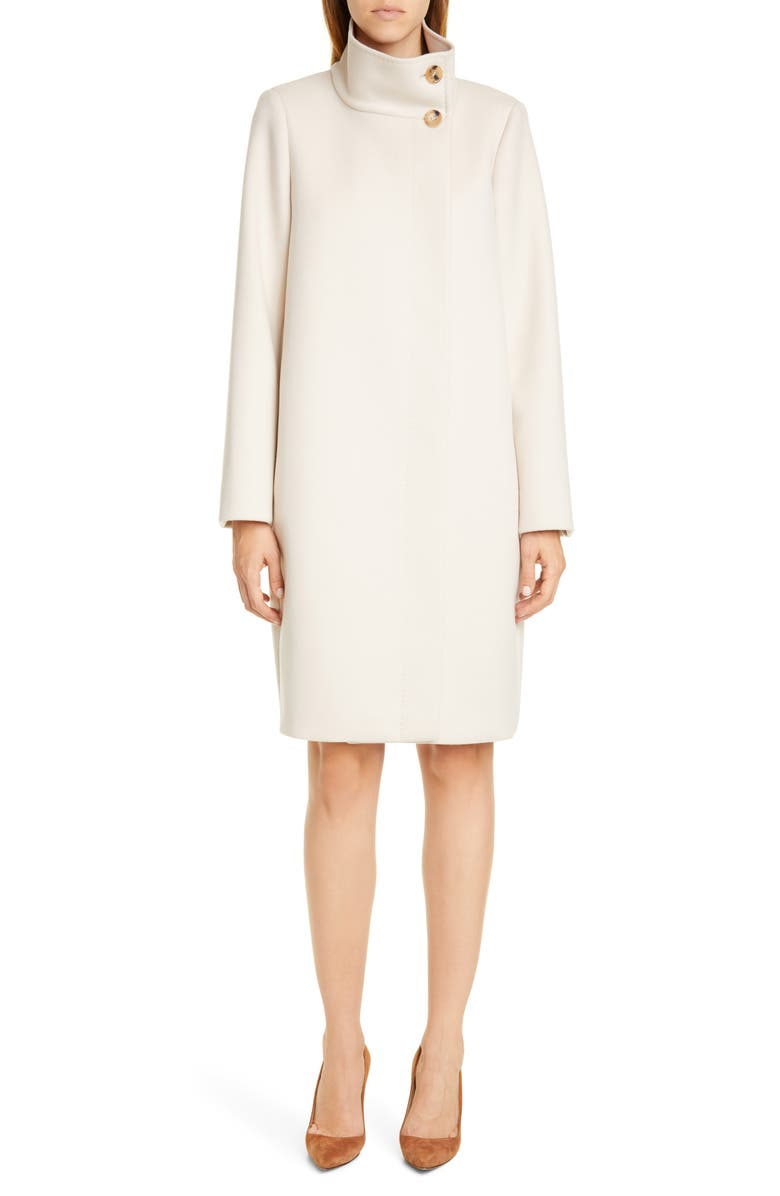 MAX MARA Fire Wool & Cashmere Coat, Main, color, VANILLA