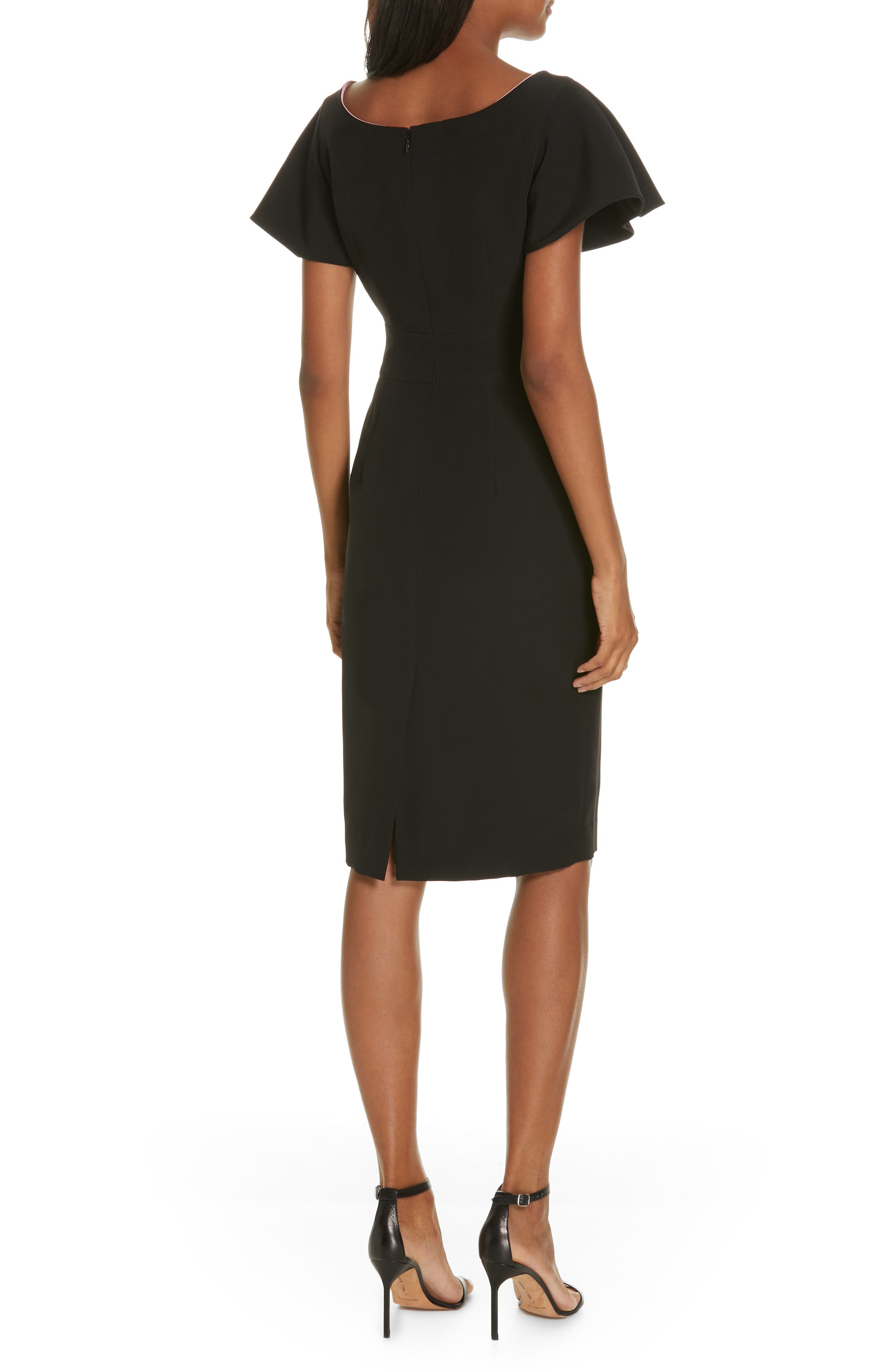 ,                             Tina Italian Cady Belted Dress,                             Alternate thumbnail 2, color,                             001