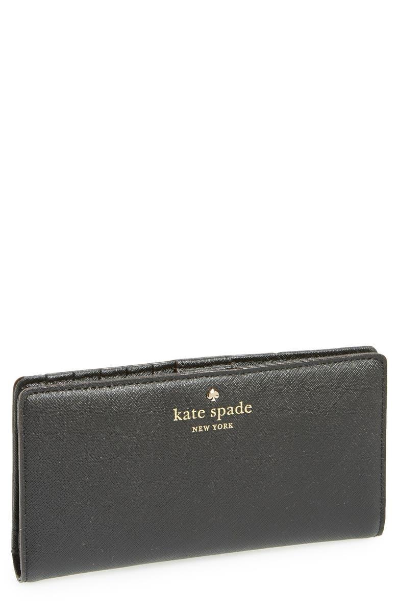KATE SPADE NEW YORK 'cedar street - stacy' wallet, Main, color, 001
