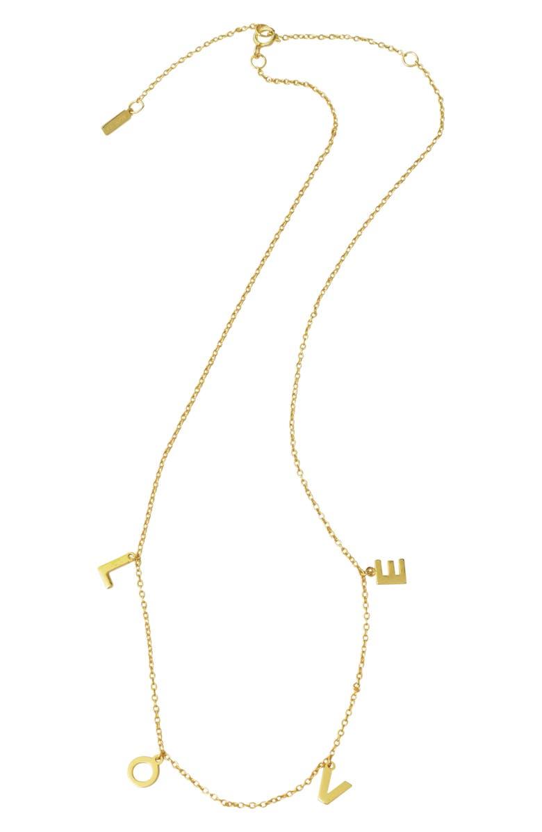 ADORNIA Love Shaker Necklace, Main, color, METALLIC GOLD