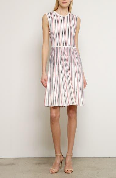 Stripe Silk Blend Sweater Dress, video thumbnail