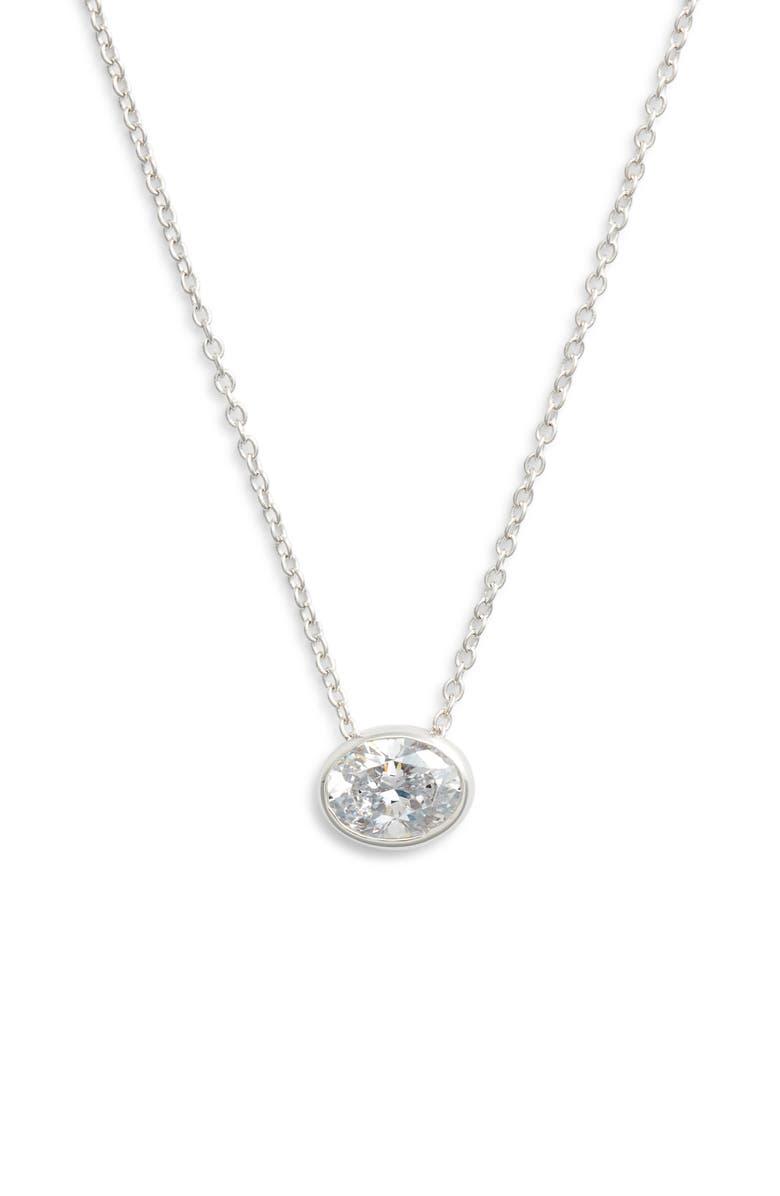 LAFONN Bezel-Set Cushion-Cut Choker Necklace, Main, color, 040