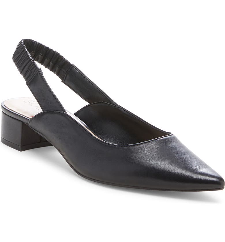 SOLE SOCIETY Meranne Slingback Pump, Main, color, BLACK LEATHER