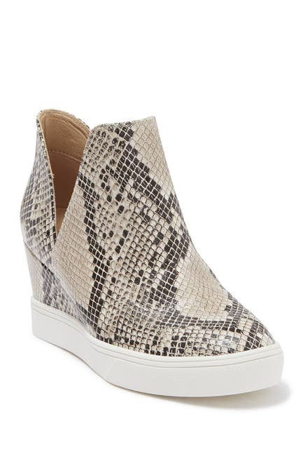 Image of MIA Kate Snake Print Faux Leather Wedge Sneaker