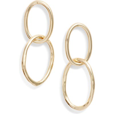 Argento Vivo Hammered Oval Link Earrings