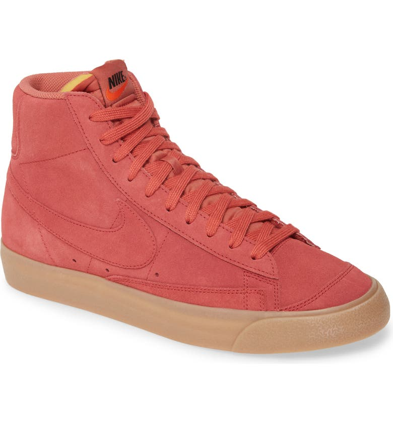NIKE Blazer Mid '77 Suede Sneaker, Main, color, REDWOOD/BROWN